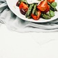 Tomato and Asparagus Salad with Olives–and a Pasta Variation