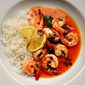 Lemon Thai Shrimp, with Powdered Coconut Milk
