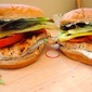 Grilled Turkey Sandwiches with Garden Vegetables and Cilantro-Mayo
