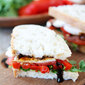 Roasted Red Pepper, Arugula, and Mozzarella Sandwich {GIVEAWAY}