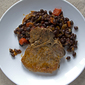 Where there's smoke, there's delicious: Braised Pork Chops with Chipotle Black Beans