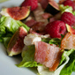 Turkey, Bacon, Fig and Raspberry Salad with Pomegranate Molasses Dressing