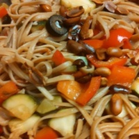 Peanut and Vegetable Linguine