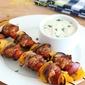 Spiced Chicken Kabobs with Tahini Yogurt Sauce