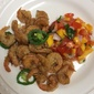 Deep-fried Salt & Pepper Shrimp with Mango Salsa