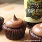 Chocolate Stout Cupcakes with Stout Fudge Frosting