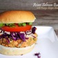 Asian Salmon Burgers with Orange-Ginger Slaw