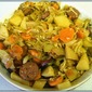 Potato Cabbage Sausage Dinner