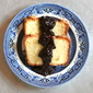 Sugar Cake with Blueberry Basil Compote