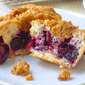 Cherry Muffins with Graham Crumb Streusel