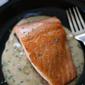 Salmon in Moscato Cream Sauce, plus wild vs farmed, which do you choose?