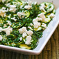 Raw Zucchini Salad (Zucchini Carpaccio) with Lemon, Herbs, and Goat Cheese (Low-Carb, Gluten-Free)