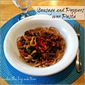 Sausage & Peppers over Pasta
