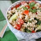 Barley Salad with Cucumbers, Tomatoes and Parsley