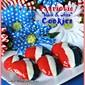 Patriotic 'black and white' Cookies