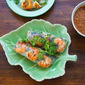 Fresh Spring Rolls With Grilled Lemongrass Shrimps