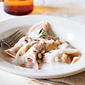 Healthy Pumpkin Ravioli with Gorgonzola Sauce