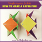 Simple origami for kids – how to make a paper fish