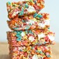 Fruity Pebbles No-Bake Bars