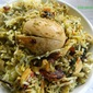Egg green masala biryani with stepwise pictures