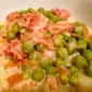 Pasta with Fresh Peas & White Wine Cream Sauce