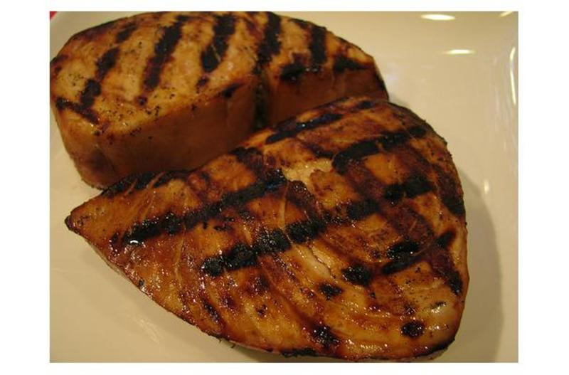 Blue marlin with teriyaki sauce recipe by shalina for Marlin fish recipes