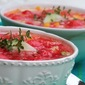 Watermelon and Peach Gazpacho