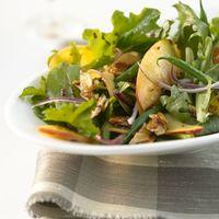 Seasonal Greens, Peaches & Haricot Vert Salad