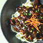 Vegetarian Jajang Myeon (Noodles w Black Bean Sauce)