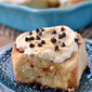 S'mores Cinnamon Rolls with Marshmallow Frosting