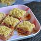 Plums Oatmeal Crumble Bars Recipe | Eggless Dessert Recipes