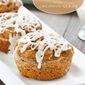 Pumpkin Cupcake Muffins with Coconut Glaze