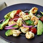 Grilled Shrimp Salad with Avocado and Orange Dressing