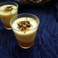 Mango-Vanilla Custard Verrines with Nuts & Dark Chocolate