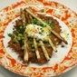 Potato Galette with Sautéed Asparagus and Fresh Peas