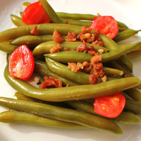 Prosciutto Garlic Green Beans With Tomatoes Recipe