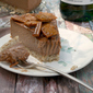Chocolate Cheesecake w/ Whisky Toffee Shards #NationalCheesecakeDay