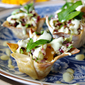 Mahi Mahi Wonton Cups with Spicy Pineapple Ranch