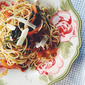 Spaghetti with Anchovy and Fresh Spinach & Tomatoes