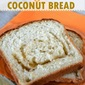Orange Swirl Coconut Bread