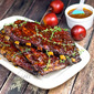 Apricot Maple Glazed Applewood Smoked Ribs