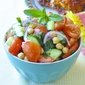 Tomato Cucumber Salad with Chickpeas & Mint