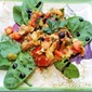 Yellow Split Pea Salad with Caponata