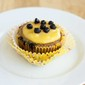 Clean Eating Blueberry Cupcakes with Lemon Curd Frosting