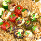 Moroccan Chicken Kabobs with Toasted Herbed Israeli Couscous