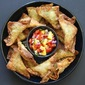 Enjoying Summer's Bounty: Avocado, Green Chile and Monterey Jack Wontons with Peach Pico de Gallo