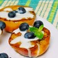 Grilled Peaches with Agave Lime Cream