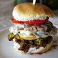 Double Decker Pulled Brisket Cheeseburger Slider with Candied Jalapenos