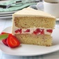 Strawberry Vanilla Butter Cake