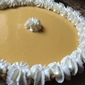 key lime pie with a toasted coconut crust